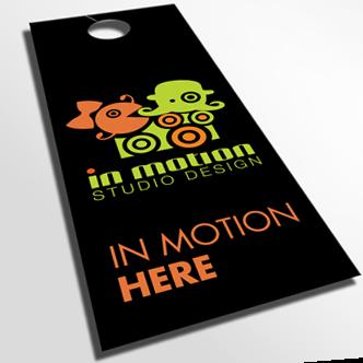 Door Hangers Design door hangers - digital printing - in motion studio design