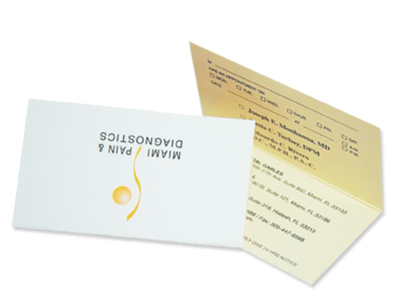2 SIDE Fold Over Business Cards - In Motion Studio Design